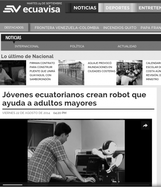 Noticia SA³M en Ecuavisa